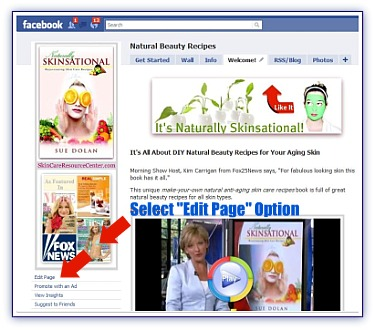 Facebook Welcome Page
