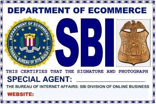 SBI Website FBI Badge