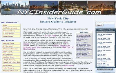 www.nycinsiderguide.com ~ Building a Website is Awesome!