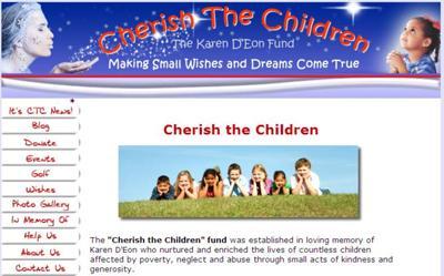 Charity Website for Cherish the Children