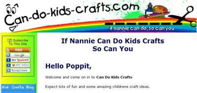 My Very Own Kids Craft Home Based Business Web Site